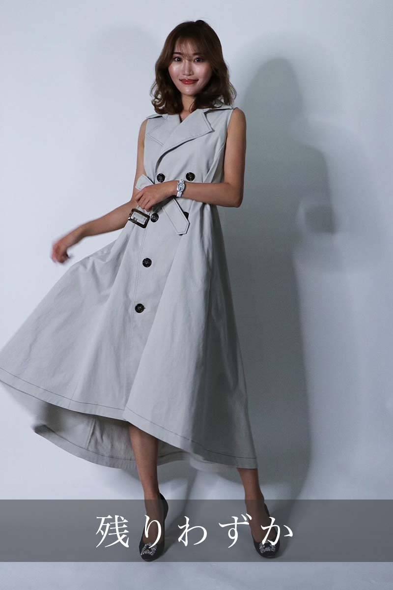 2wayレディトレンチドレス